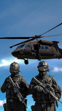 军人 士兵 武器 战斗机 飞机