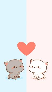 爱心 猫咪 可爱 情侣 爱情