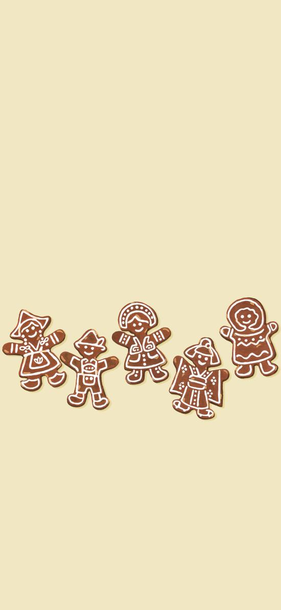 姜饼 烤饼 圣诞 小人 饼干