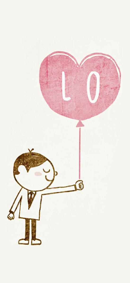 情侣 爱情 LOVE 气球 男孩