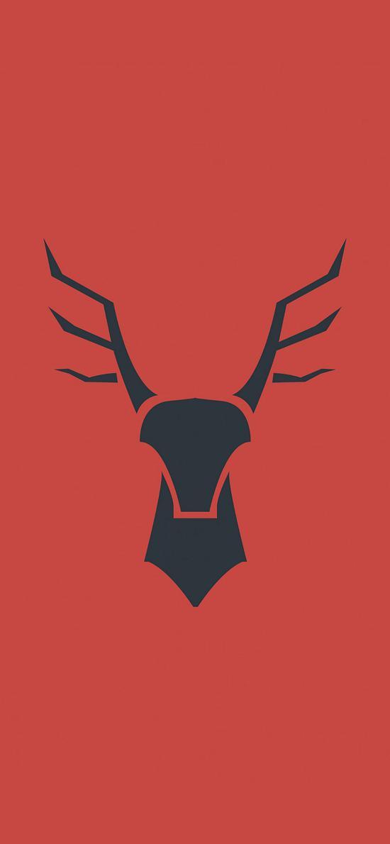 鹿 鹿角 创意 标志