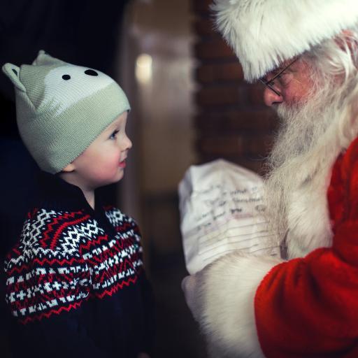 欧美 小男孩 圣诞老人 圣诞节