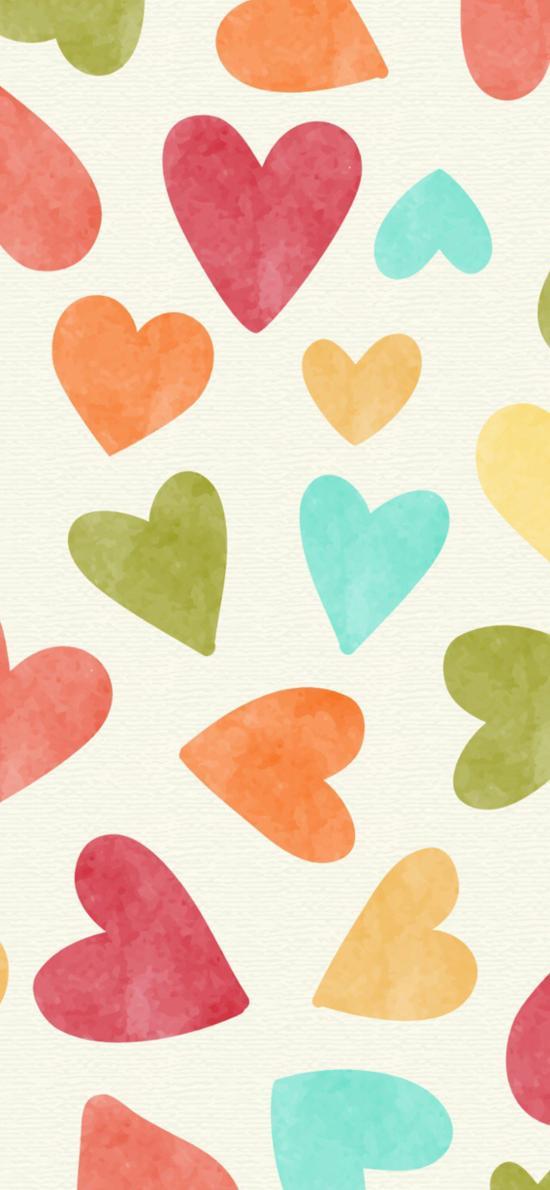 愛心 色彩 平鋪 愛情