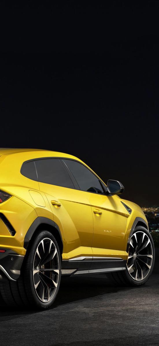 兰博基尼 黄色 SUV 炫酷