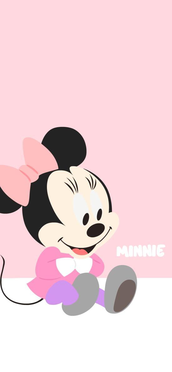 米妮 粉色 迪士尼 可爱 卡通 情侣