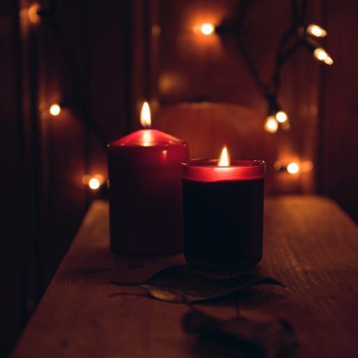 蜡烛 火焰 发光 照明