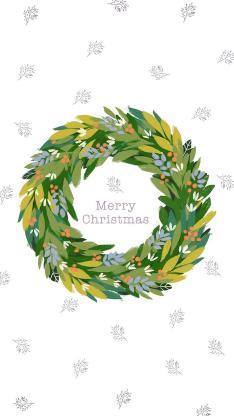 圣诞节Merry Christmas 花环 平铺