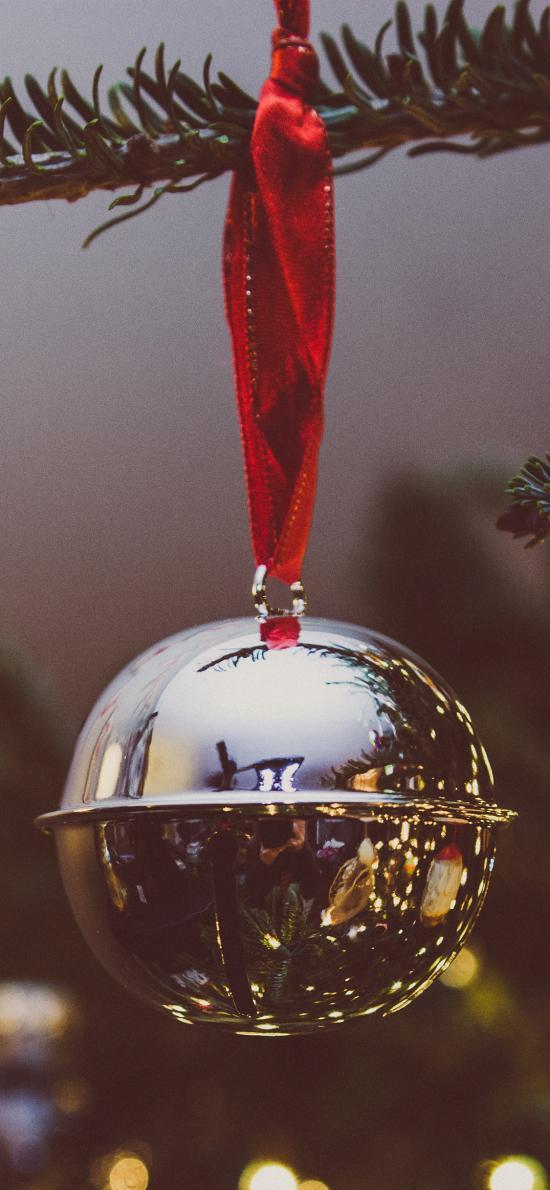 圣诞树 挂饰 银色铃铛
