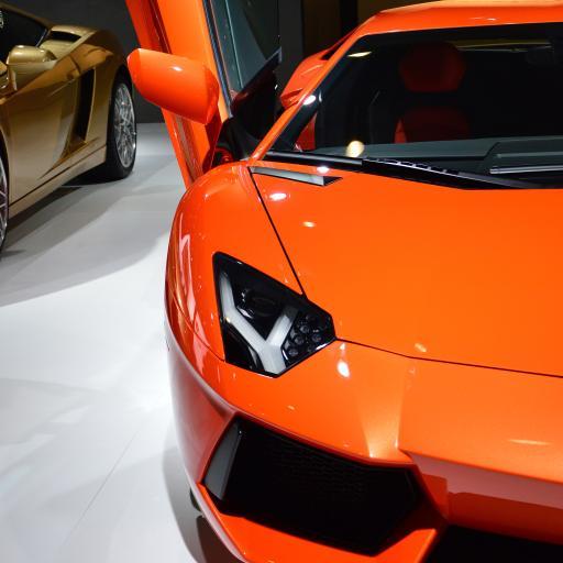 兰博基尼 橘色 炫酷 超级跑车