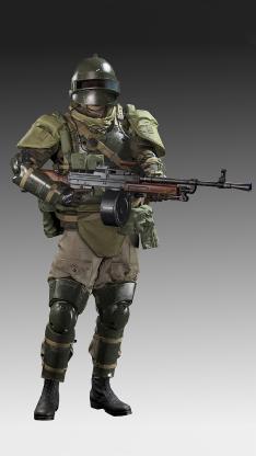 欧美 军人 武装 步枪