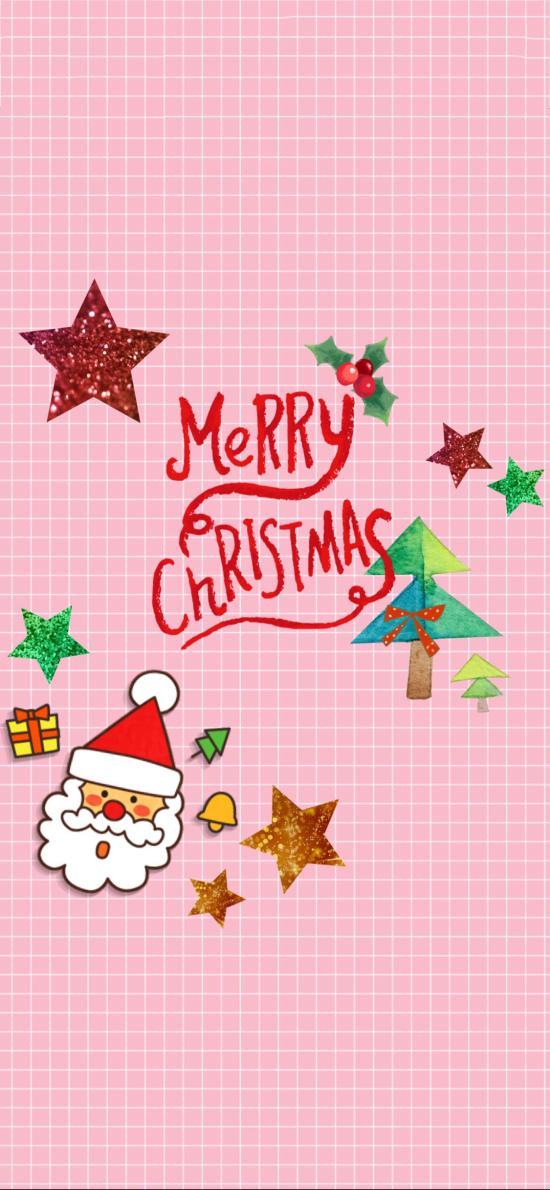 粉色系 圣诞节 Merry Christmas