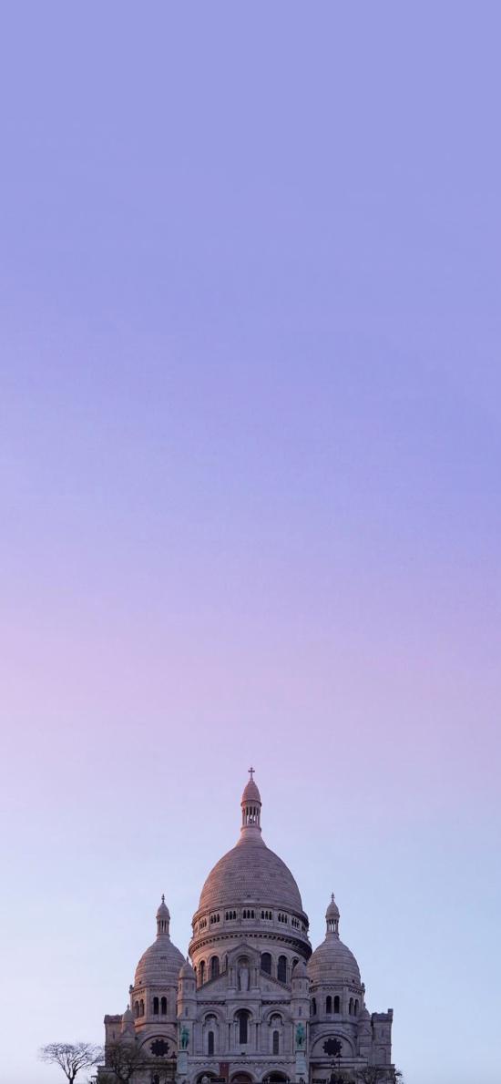 城堡 建筑 屋顶 渐变 天空
