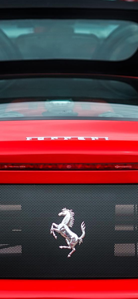 法拉利 超級跑車 敞篷 紅色