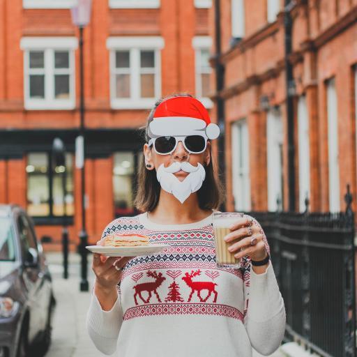 欧美美女 装扮 圣诞女孩 墨镜