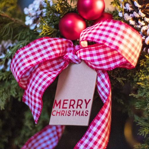 圣诞节 圣诞树挂饰 蝴蝶结 Merry Christmas
