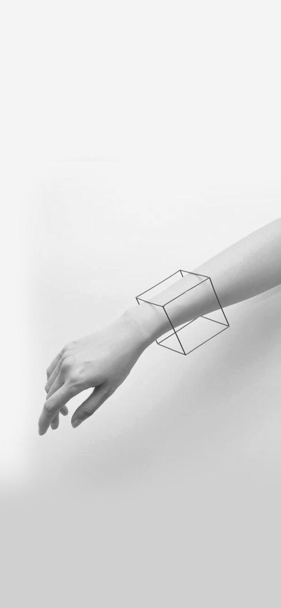 灰白 手部 立体方块