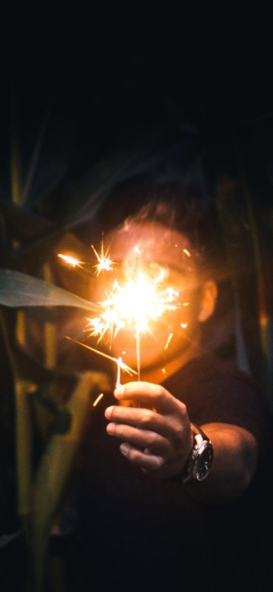 煙花棒 仙女棒 慶祝 燃放