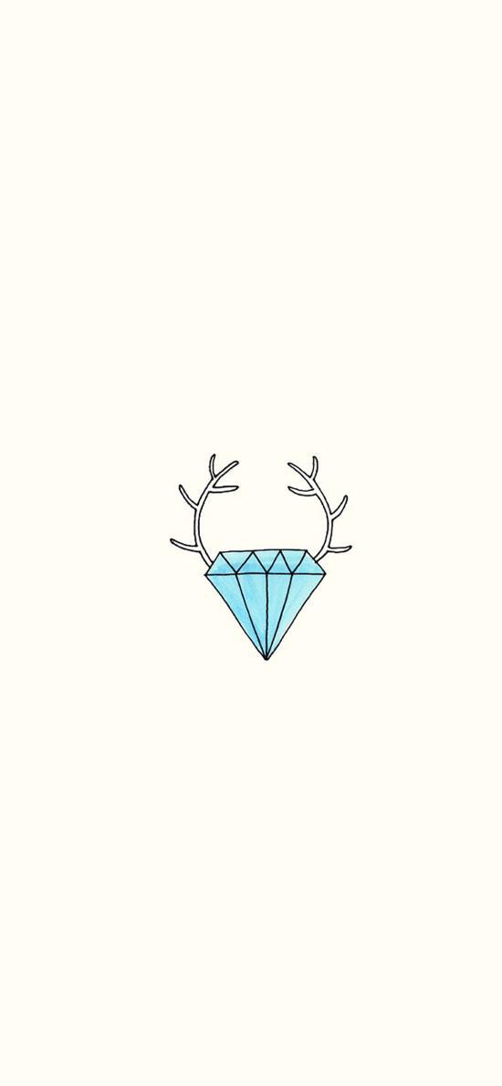 创意 简约 个性 钻石 鹿角