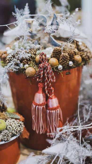 圣诞 装饰 松果 创意