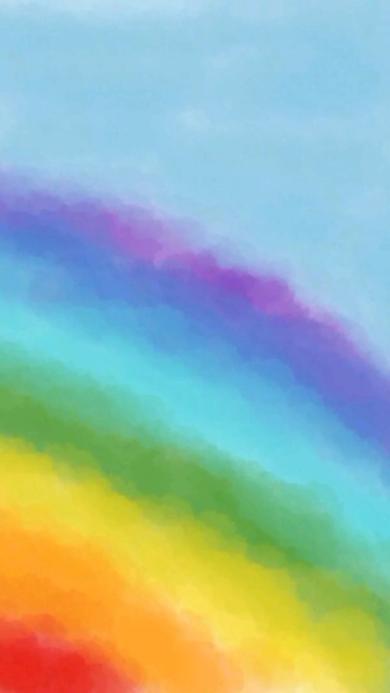 苹果壁纸 彩虹 色彩 晕染