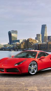 法拉利 炫酷 超级跑车 红色 城市