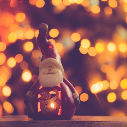 圣诞老人 摆件 装饰 烛火