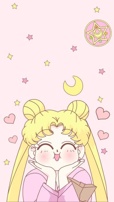 美少女战士 粉色 动画 爱心 开心