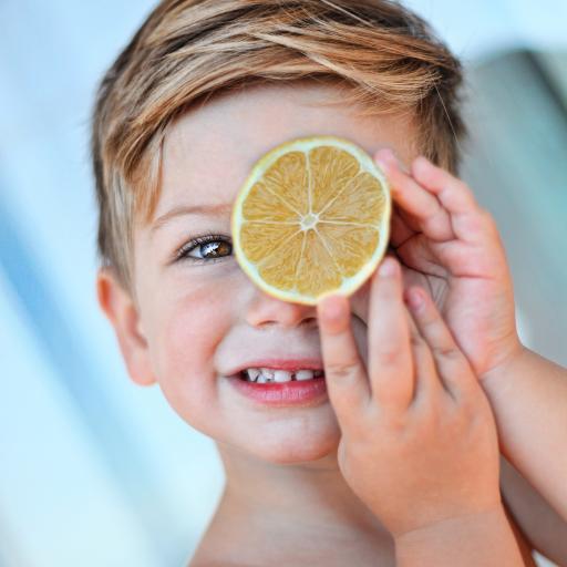 小男孩 可爱 柠檬片 欧美