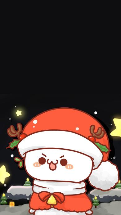 圣诞老人 圣诞节 雪 情侣 长草颜文字
