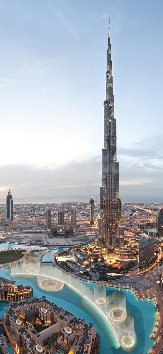迪拜 喷泉 国家 城市 建筑