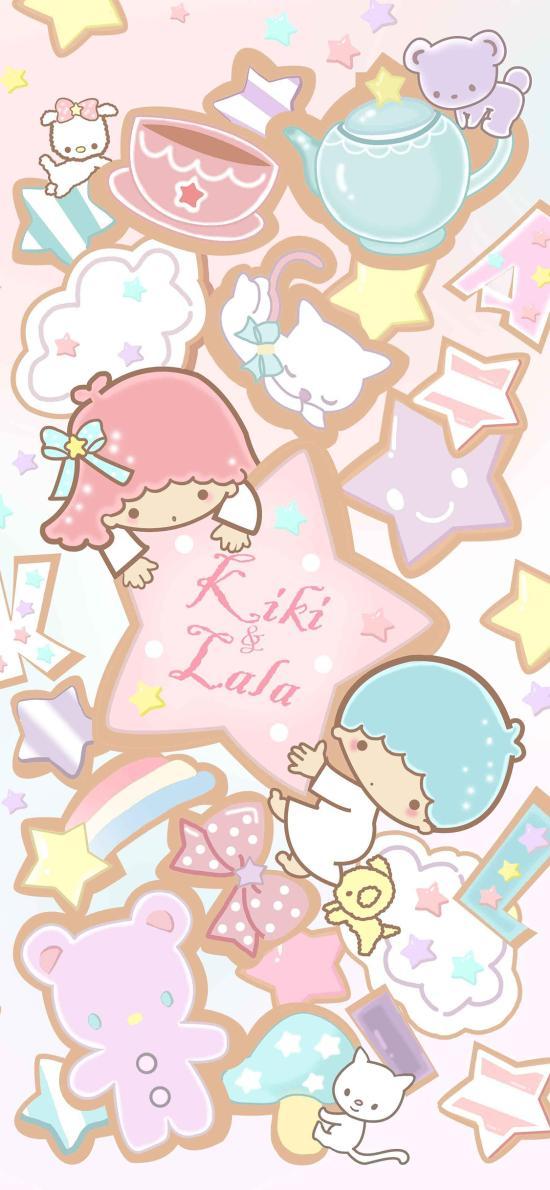 双子星 卡通 粉色 星星