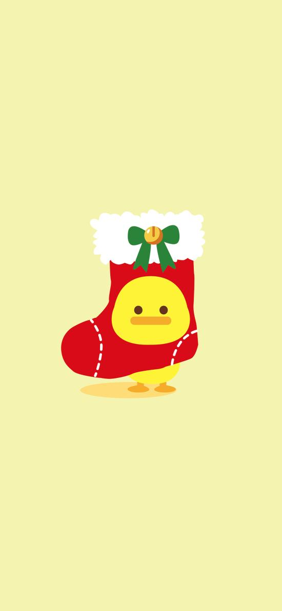 圣诞 袜子 小鸡 夏萌猫 卡通