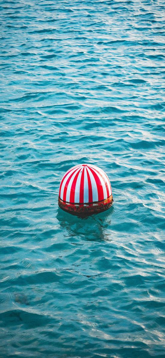 海面 浮球 色彩 漂浮