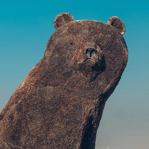 工艺 雕刻 棕熊雕像 石雕