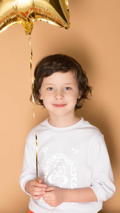 小男孩 儿童 气球 欧美 小孩