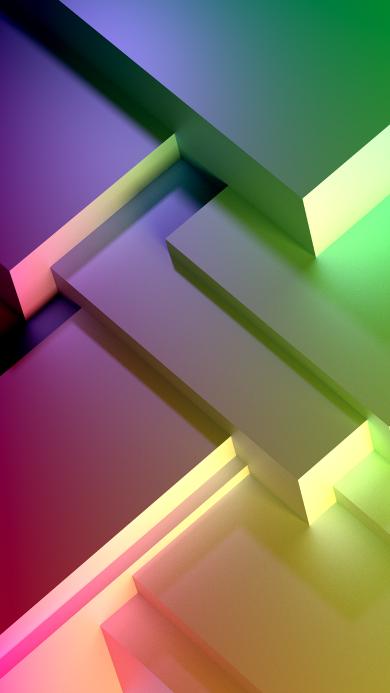 抽象 空间 几何 立体 渐变