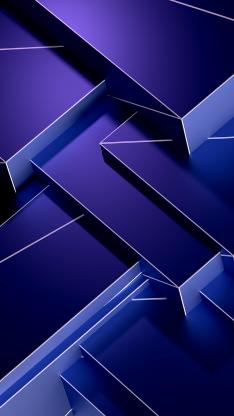 抽象 空间 几何 立体 渐变 蓝色