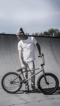 自行车 运动 黑白 男孩 花式