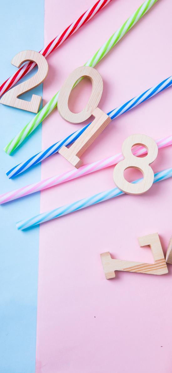 2018 新年 蜡烛 创意 色彩
