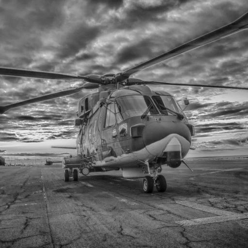 直升机 黑白 螺旋桨 航空 飞机