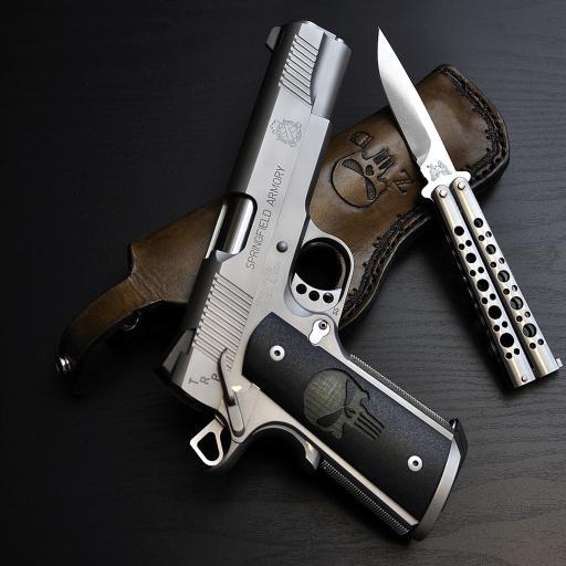 手枪 匕首 皮革  危险