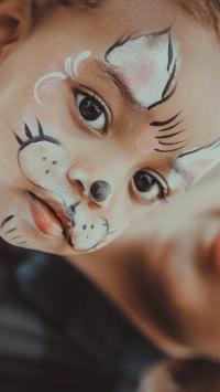 欧美 萌娃 动物妆容