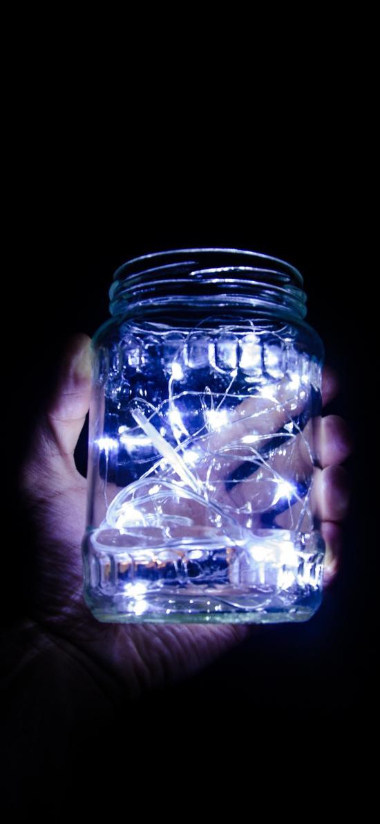 玻璃瓶 发光 小灯泡 灯串