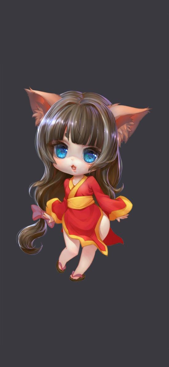 小狐女 插画原画 练习