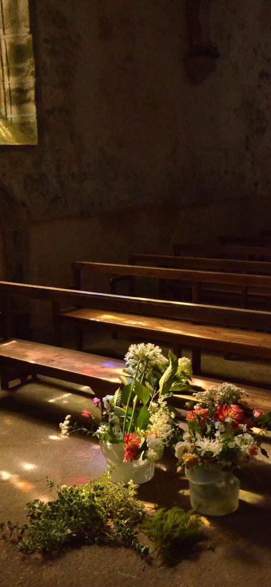 建筑 花瓶 盆栽 花束 教堂 室內