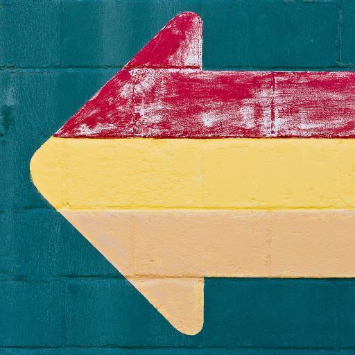 色彩 路标 方向 箭头