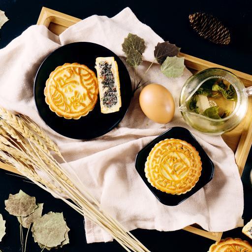 月饼 茶  小麦 节日 中秋