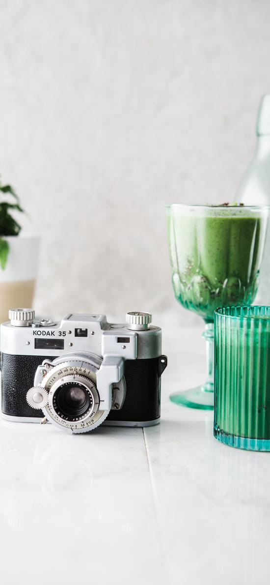 靜物 相機 果汁 容器
