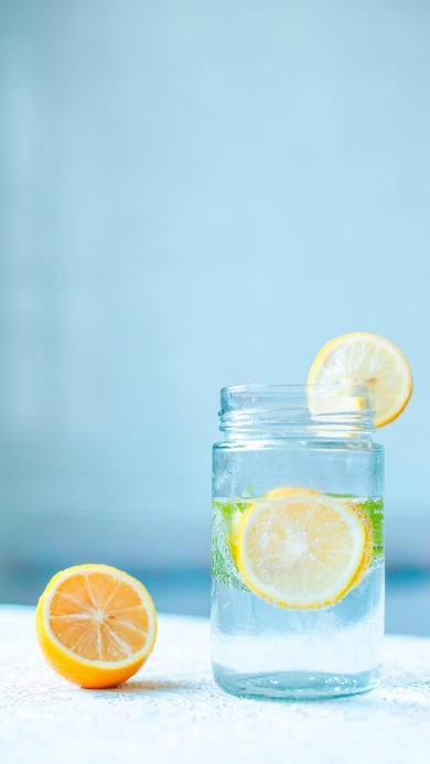 玻璃罐 柠檬水 美白 排毒