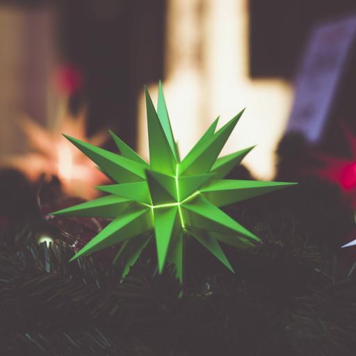 灯饰 绿色 几何 三角